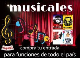 entradas a musicales