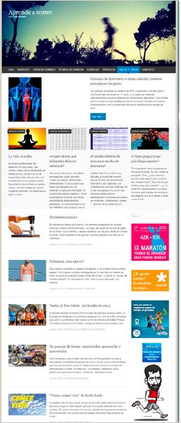 Creación blog Aprende a Correr