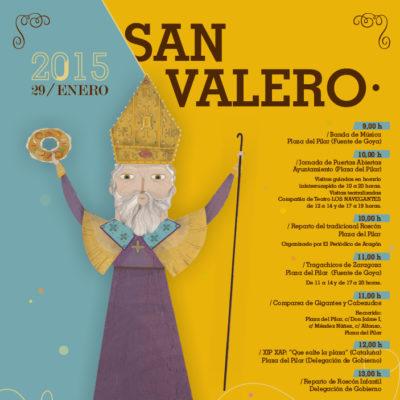 Cartel de las actividades de San Valero